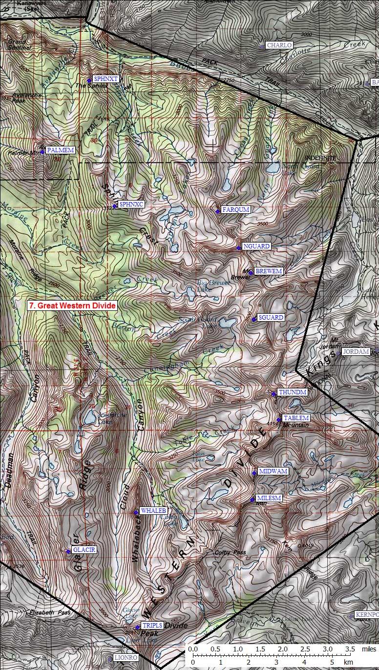 Sierra Peaks Region